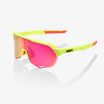 100% S2 Matte Washed Out Neon Yellow / Purple Multilayer Mirror Lens