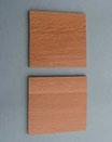 Coppia piastre di legno