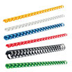 Plastikbinderücken US-Teilung, DIN A4, 8 mm