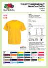 T-shirt personalizzata con stampa STAFF sul retro