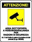 Etichette per video sorveglianza