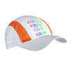 Cappellino con visiera bianca con stampa fotografica  mod:4566