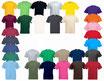 Shirt in kleur naar keuze met opdruk naar keuze voor en achter