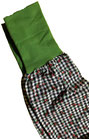 dirndl pirat 110-134 schwarz-weiß mit grün