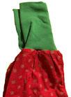dirndl pirat 080-116 rot mit grün