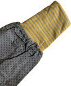 dirndl pirat 110-134 grau mit ringel gelb