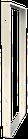 Pied de table BaYa H 87 x Larg 40 cm