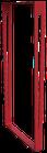 Pied de table ElYa  H 71,5 x Larg 40 cm