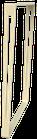 Pied de table ElYa  H 71,5 x Larg 60 cm