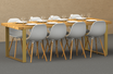 Pied de table DimYa H 71 x Larg 79 cm - embout plat