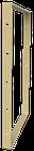Pied de table BaYa H 87 x Larg 60 cm