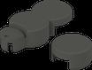 BIO-Rasenkante SET 2 mit Endkappe