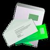 Briefumschläge haftklebend,   Din lang, C4, einfarbig s/w  oder farbig bedruckt