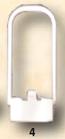 4) 301155 PLACCA CLASSIC/BIBLO -MONO/DUO PER CASSETTA MONOLITH PRATIKA DN 25 mm X H 89 mm