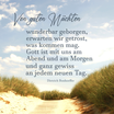 """Von guten Mächten..""  Motiv Dünen Text Dietrich Bonhoeffer"