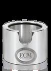 ECM Andrückstation Aluminium poliert rund