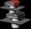 Chapeau de toiture métallique rouge Ø160