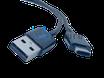 Ladekabel USB auf USB-C geeignet für Samsung Quick Charge 3.0, 1,2m, schwarz