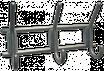 Крючок-вешалка трехрожковый (пластмас.)