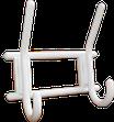 Крючок-вешалка двухрожковый (пластмас.)