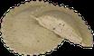 Sols de scarmoza fumada i pistatxo