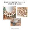 Kerzenkranz minimalistisch im Scandilook aus Holzkugeln - natürlich schön - Kerzendeko für Eure Hochzeit Taufe Kommunion Konfirmation
