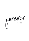 PERSONALISIERBARES POSTER / FOREVER