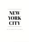 POSTER / NEW YORK CITY COORDINATES