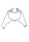 POSTER / ONELINE HEART HANDS