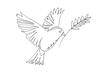 POSTER / ONELINE BIRD QUER