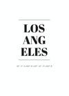 POSTER / LOS ANGELES COORDINATES