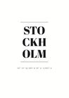 POSTER / STOCKHOLM COORDINATES
