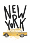 POSTER / CITY CAR NEW YORK