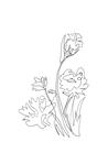 POSTER / ONELINE SPRING FLOWER