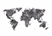 POSTER / WORLD MAP BLACK