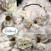 Kopfschmuck Band Boheme Blumen Reihe weiss