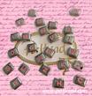 Charm Buchstabe W rosa classic 9mm