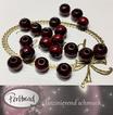 Sandelholz Perlen Rot 8mm