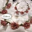Kopfschmuck Band Blumen Blüten rosa gelb