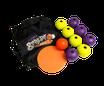 Boules de pétanque de rue + cible de boules