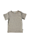 t-shirt gris manches courtes, Leela Cotton