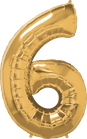 Zahl gold 6