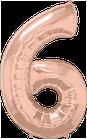 Zahl Rosegold 6