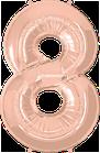 Zahl Rosegold 8