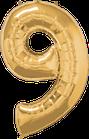 Zahl gold 9