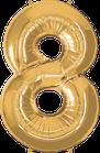 Zahl gold 8