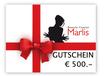 GUTSCHEIN von € 500.-