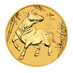 10 x Lunar III Ochse 1 Oz Gold 2021