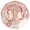5 Euro Neujahrsmünze - Janus Kupfer 2021