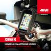 GIVI S956B  Porta smartphone universale nero.
